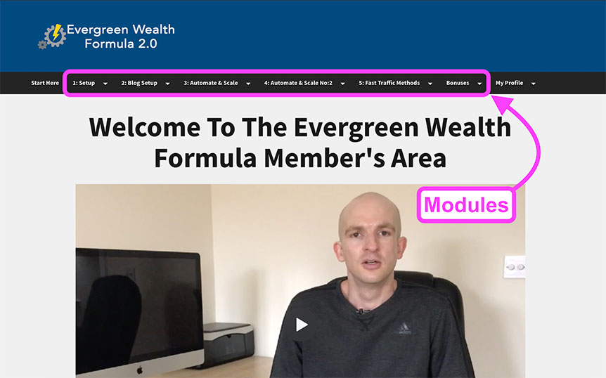 Evergreen Wealth Formula 2.0 member's area